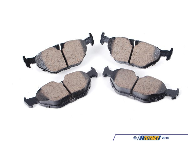 T#13566 - 34216761281 - Akebono Rear Euro Ceramic Brake Pad Set -- E39 - Akebono - BMW