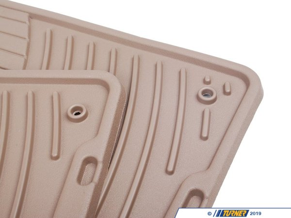 T#14218 - 82110305567 - Genuine BMW Rubber Floor Mats E83 Beige Front - 82110305567 - E83 - Genuine BMW -