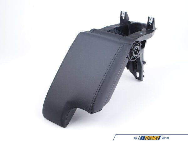 T#25308 - 51168238223 - Black Leather Armrest with Mounting Bracket  - E46,E46 M3 - Genuine BMW - BMW