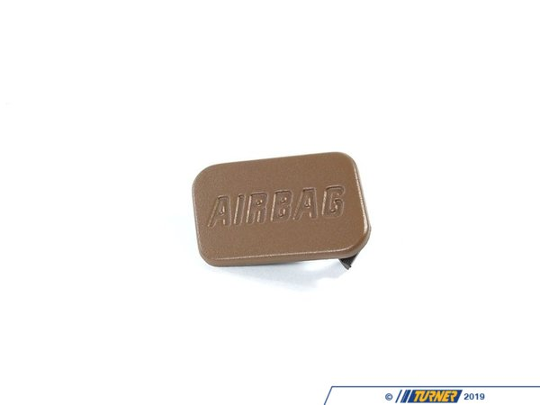 Genuine BMW SRS Airbag Door Emblem - Beige - Left - E36, Z3 51418413217