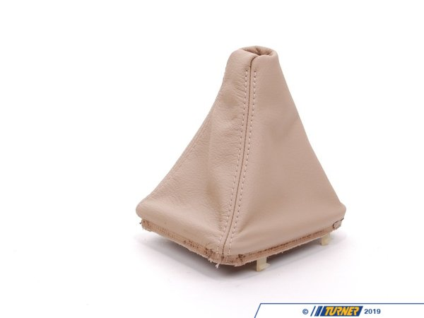T#20760 - 25111434430 - Genuine BMW Leather Gear Lever Cover Hellbeige - 25111434430 - E46 - Genuine BMW -