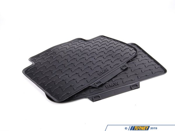 T#110046 - 51470428952 - Genuine BMW Kit Rubber Floor Mats Rear Anthrazit - 51470428952 - E83 - Genuine BMW -