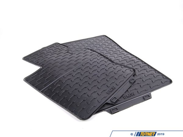 T#110043 - 51470428949 - Genuine BMW Kit Rubber Floor Mats Front Anthrazit - 51470428949 - E83 - Genuine BMW -