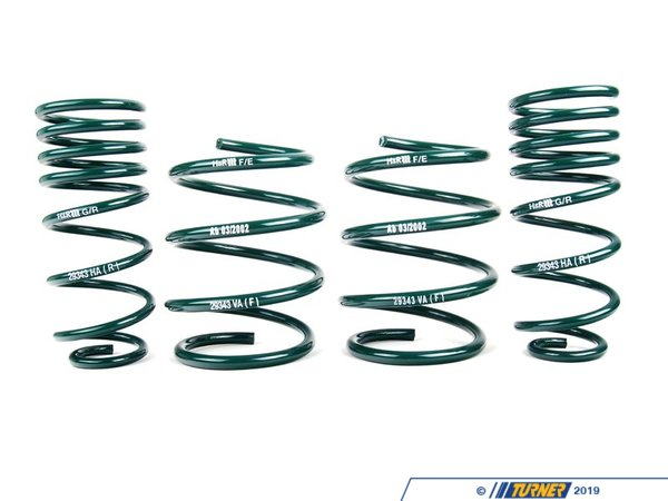 "T#27 - 50416-2 - H&R Sport Spring Set - R53 Mini Cooper S 3/2002-2006 - The H&R Sport Spring set for the Mini Cooper lowers the car 1.0"" Front and .75"" Rear. - H&R - MINI"