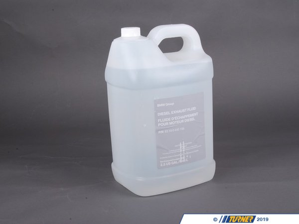 T#14250 - 83190440158 - Genuine BMW Diesel Exhaust Fluid Adblue - 2.5 gallon - 83190440158 - GENUINE BMW DIESEL EXHAUST FLUID ADBLUE 2.5 Gallon.--On modern BMW diesel engines, this fluid is used in the urea tank to improve emissions and must be replenished periodically. BMW recommends topping off the exhaust fluid with each oil change. Running out of the urea exhaust fluid will prevent the engine from starting, so you will want to have some of this fluid on hand.  This item fits the following BMWs:2008-2011  E90 BMW 335d- Sedan2012+ F30 BMW 328d 328d xDrive - Sedan2013+ F31 BMW 328i xDrive 328d xDrive - Wagon2011+  F10 BMW 535d 535d xDrive 2009+ F01 BMW 740ld xDrive2007-2013  E70 BMW X5 xDrive35d 2014+  F15 BMW X5 xDrive35di  - Genuine BMW - BMW