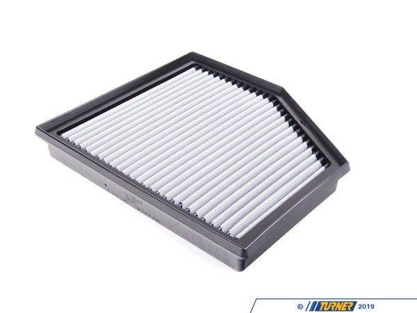 "T#2647 - 31-10145 - aFe ProDry S Air Filter - E60 545i 550i, E63 E64 645ci 650i - This is a drop-in stock replacement aFe performance air filter that installs into your BMW's factory airbox. This particular filter fits the following BMWs:E60 5 series: 545i 550i 2004-2010  E63 6 series : 645ci 650i 2004-2010 This version has an oil-free filter media for less maintenance. For the best flowing filter, with the best performance gain, we always recommend the standard aFe ""Pro5R "" filter (which has a blue pre-oiled filter media), but this oil-free filter flows only slightly less than the blue Pro5R  style aFe filter, and requires no re-oiling after cleaning the filter. - AFE - BMW"
