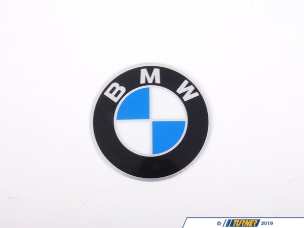 Genuine BMW Wheel Emblem - Adhesive Backed - 58mm 36131181081