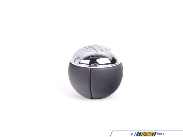 T#52871 - 25117542272 - Genuine Mini Gear Shift Knob Leather/chro - 25117542272 - Schwarz - Genuine MINI -