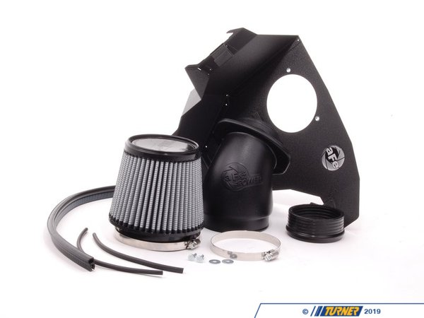 "T#5696 - 51-20442 - aFe Magnum FORCE Stage-2 Pro DRY S Cold Air Intake System - E46 323i 328i 325i 330i - AFE Summer Rebate Form""Oil-Free"" ProDry S FilterThis intake kit replaces your restrictive factory air box. It features a 1.6mm powder-coated steel heat shield, trim sealed to seal out hot engine air, and a custom aFe brand cotton filter.This version has an oil-free filter media for less maintenance. For the best flowing filter, with the best performance gain, we always recommend the standard aFe ""Pro5R "" filter (which has a blue pre-oiled filter media), but this oil-free filter flows only slightly less than the blue Pro5R style aFe filter, and requires no re-oiling after cleaning the filter.By removing your stock intake air box, you are removing the most restrictive portion of your intake system, increasing both horse power and torque, improving acceleration as well as throttle response.aFe has reported gains as high as 6 hp and 12 lb/ft torqueFor the maximum benefit in performance, we recommend upgrading your engine software with the Shark Injector (Click here for more info on the Shark Injector performance software.)This aFe intake fits the following BMWs:1999-2006  E46 BMW 323i 323ci 328i 328ci 330i 330ci 330xi2001-2006  E46 BMW325i 325ci 325xi - Only with M54 Engine - Not for SULEV M56 engine - AFE - BMW"