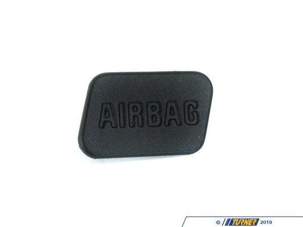 Genuine BMW SRS Airbag Door Emblem - Black - Right - E36, Z3 51418413216