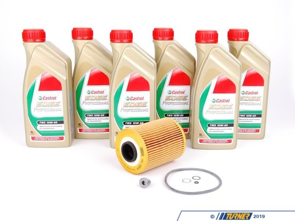 T#555793 - S54TWSKT - Castrol TWS 10w-60 Oil Service Kit - S54 - When changing your oil, you want to make sure you are using the best. Turner Motorsport now offers our premium Castrol TWS Oil service kits to ensure you are getting the best products available for your routine oil services. Everything included has been specifically picked to ensure high quality and outstanding wear protection.One of the most popular engine oil choices on the market today, Castrol Edge Professional TWS 10-60 engine oil is premium engine oil approved by BMW for use in a wide variety of engines such as the M30, S54, S85, and many more. In fact, this oil is the same oil that BMW uses for their performance engines from the factory. Thanks to its premium blend of synthetic oil and additives, this oil continues to provide protection under even the harshest conditions andis perfect for both street cars and cars that see occasional track use.Specifications:SAE-10w60ACEA A3/B4API SN/CFVW 501 01/505 00Exclusive Approval forBMW M-ModelsIncluded in this Kit:Castrol TWS 10w-60 Premium Oil - 6 LitersEngine Oil Drain Plug & WasherPremium Oil Filter - Packaged by Turner - BMW