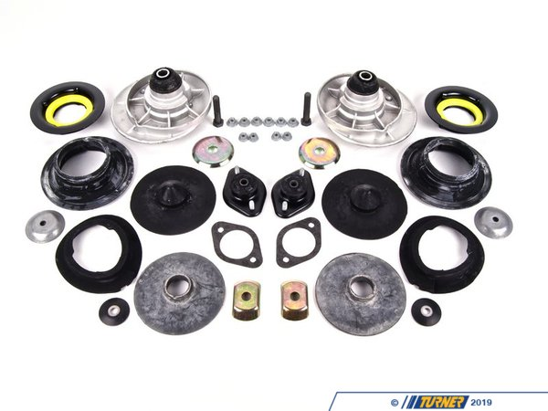 T#553630 - 31332229165KT2 - Shocks and spring Installation Kit - E46 M3 Coupe  - This kit is contains all new strut and shock mounts and hardware needed when installing a new shocks and struts or aftermarket suspension on your vehicle.Fits the following BMW'sE46 M3 Coupe - Packaged by Turner - BMW