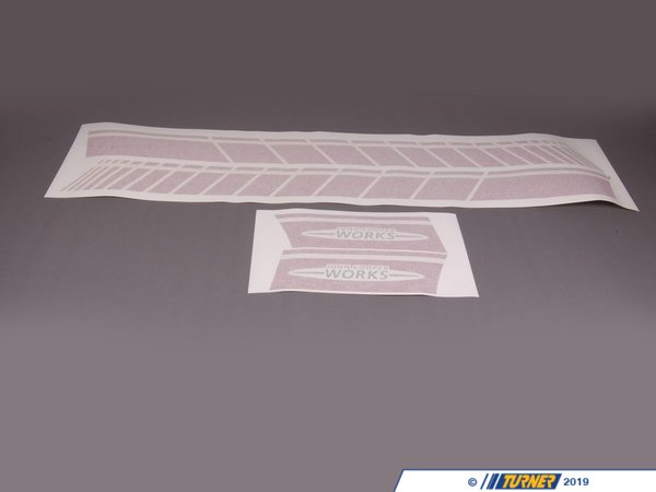 T#80921 - 51142232635 - Genuine MINI Side Stripes Jcw Red - 51142232635 - Genuine Mini -
