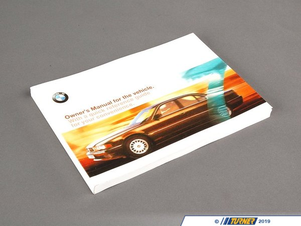 T#6300 - 01410004597 - Genuine BMW Owner's Handbook E38 - 01410004597 - E38 - Genuine BMW -