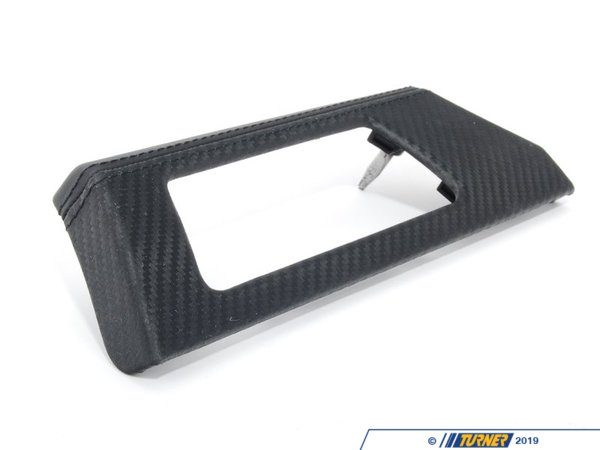 T#107912 - 51458036705 - Genuine BMW Decor Strip, Leathr, Instr. - 51458036705 - Carbon Schwarz - Genuine BMW -