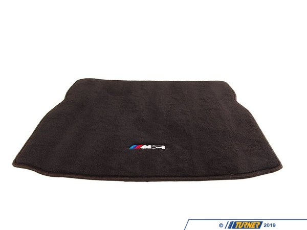 Genuine BMW Genuine BMW M3 Embroidered Luggage Compartment Mat (Anthracite) Black - E46 M3 82110136308