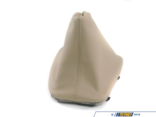 Genuine BMW Genuine BMW Shift Boot - Beige Imitation Leather - E46 323Ci 323i 325Ci 325i 25111434352
