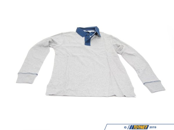 T#162971 - 80142211470 - Genuine BMW Man's Rugby Shirt Grey L - 80142211470 - Genuine BMW -