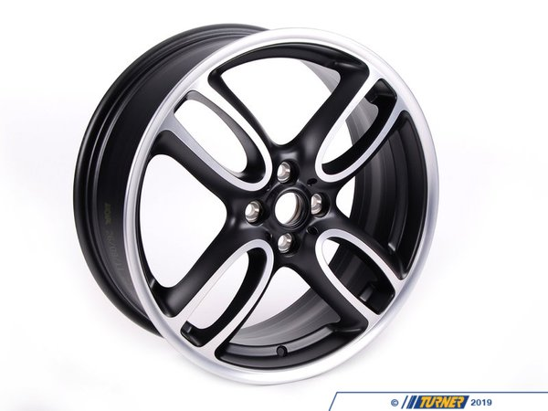 T#66391 - 36116774581 - Genuine MINI Gloss-Turned Light Alloy Rim 7Jx18 Et:52 - 36116774581 - Genuine Mini -
