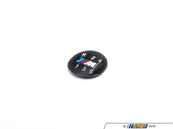 T#52543 - 25111221616 - 5-speed Dogleg ///M Gearshift Emblem (Round) - Genuine BMW - BMW