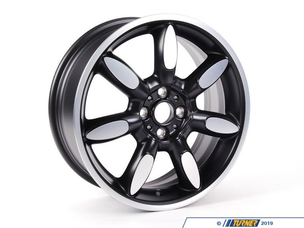 T#66381 - 36116773800 - Genuine MINI Gloss-Turned Light Alloy Rim 7Jx17 Et:48 - 36116773800 - Genuine Mini -