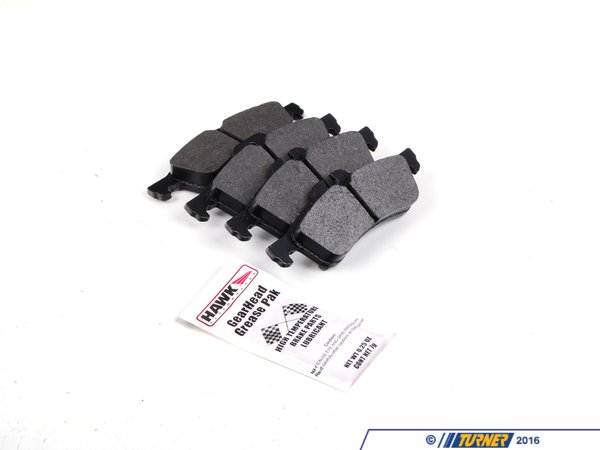 T#2154 - TMS2154 - Hawk HP Plus Brake Pads (Street/Track) - Rear - 2002-2006 MINI Cooper & MINI Cooper S - Hawk - MINI