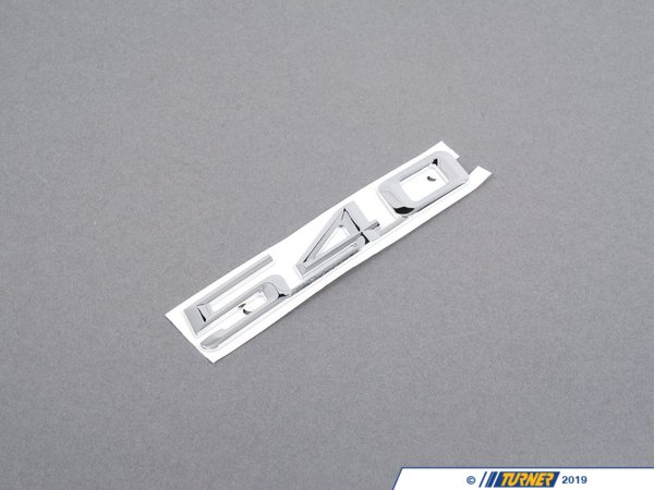 "T#8879 - 51148148824 - Genuine BMW Emblem Adhered ""540"" - 51148148824 - E34,E39 - Genuine BMW -"