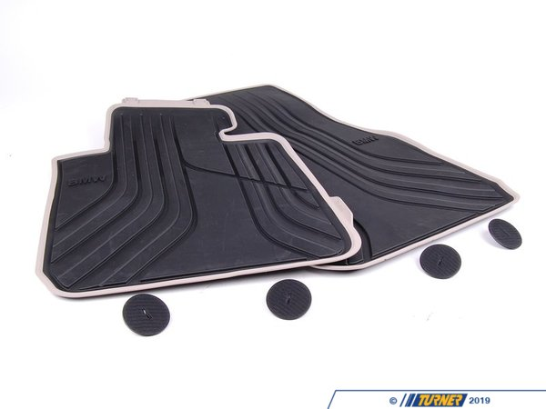 T#24086 - 51472220140 - Genuine BMW Floor Mats, All-weather, Fro - 51472220140 - Genuine BMW -