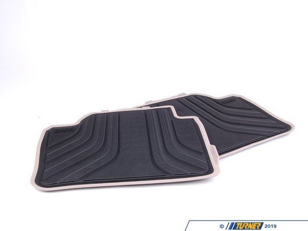 T#24087 - 51472220142 - Genuine BMW Floor Mats, All-weather, Rea - 51472220142 - Genuine BMW -