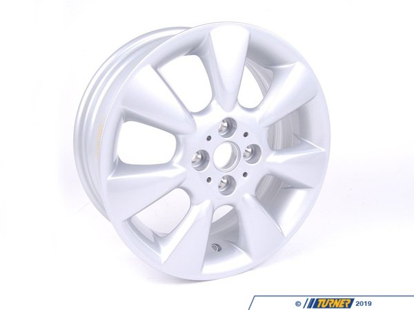 T#66312 - 36116763297 - Genuine MINI Light Alloy Rim, Silver 61/2Jx16 Et:48 - 36116763297 - Genuine Mini -