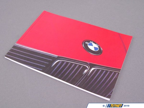 Genuine BMW Genuine BMW E30 Owner's Manual - 1991 - E30 01479783809