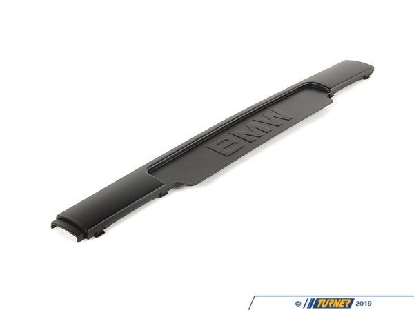 "T#8335 - 51112233378 - E36 M3 Front Bumper Spoiler Molding - ""BMW"" - For those E36 M3 owners who are lucky enough not to require a front license plate this molding strip is a must-have. This front trim moulding is the Genuine BMW bumper molding for E36 M3 front bumper without any license plate holes. It's a clean, smooth finish (no holes). Essential for that clean appearance. It simply snaps into place on the front spoiler and replaces the stock one. Fits only the original E36 M3 bumper and replica M3 bumpers.This item fits the following BMWs:1995-1999  E36 BMW M3 (or M3 bumper) - Genuine BMW - BMW"