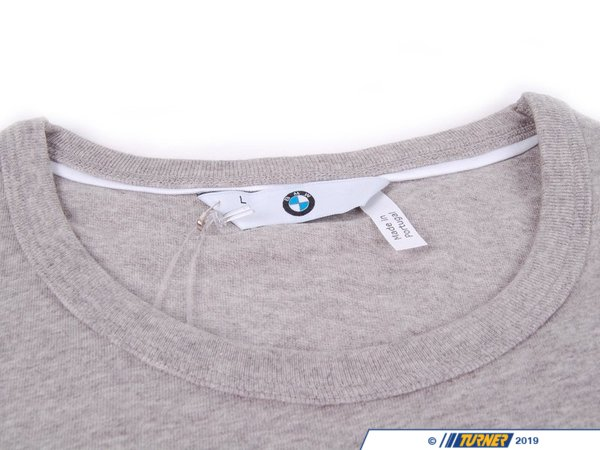T#176653 - 80142298075 - Genuine BMW T-Shirt For Men Grey, L - 80142298075 - Genuine BMW -