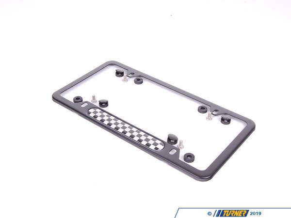 T#120088 - 51800406644 - Genuine MINI License Plate Frame Checkered Black - 51800406644 - Genuine Mini -