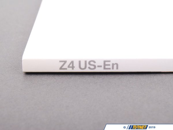 T#26577 - 01410158704 - Genuine BMW Owner's Handbook Z4 E85 - 01410158704 - E85 - Genuine BMW -