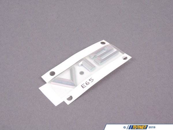 T#81105 - 51147033256 - Genuine BMW Lettering Right - V12 - 51147033256 - E65 - Genuine BMW -