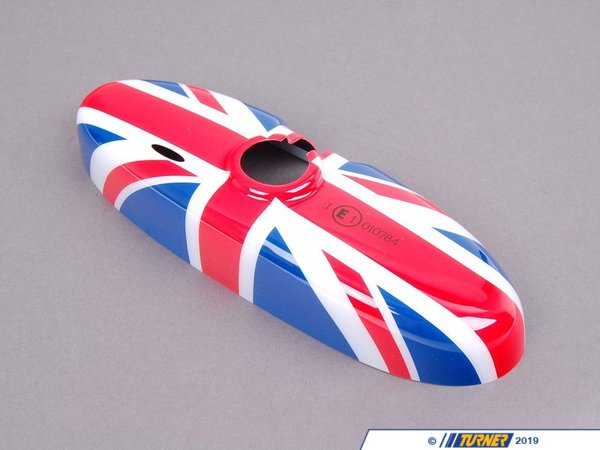 T#23671 - 51160412781 - Genuine MINI Cover, Interior Rear-View Mirror Union Jack - 51160412781 - Genuine Mini -