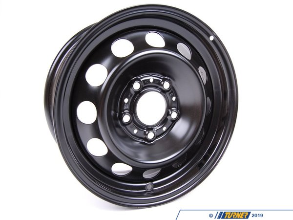 T#65337 - 36111095004 - Genuine BMW Steel Rim Schwarz 61/2Jx15 Et:42 - 36111095004 - E46 - Genuine BMW -