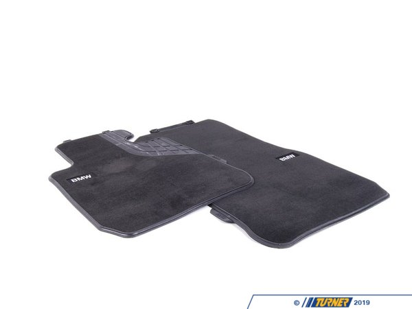 Genuine BMW Genuine BMW Base Line Front Carpeted Floor Mat Set 51472293352