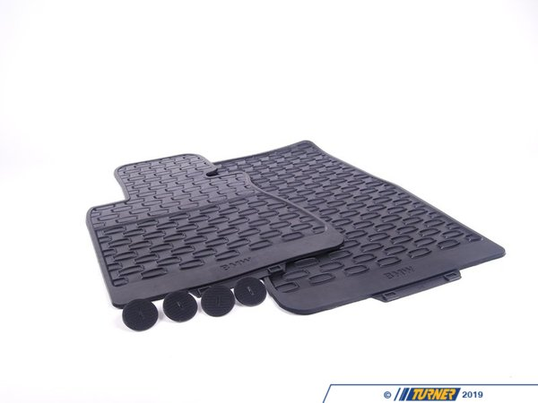 T#110063 - 51470429231 - Genuine BMW Kit Rubber Floor Mats Front - 51470429231 - Genuine BMW -