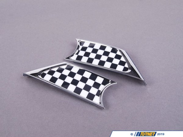T#23427 - 51130432572 - Genuine MINI Trim Cover Set With Pad Checkered - 51130432572 - Genuine Mini -