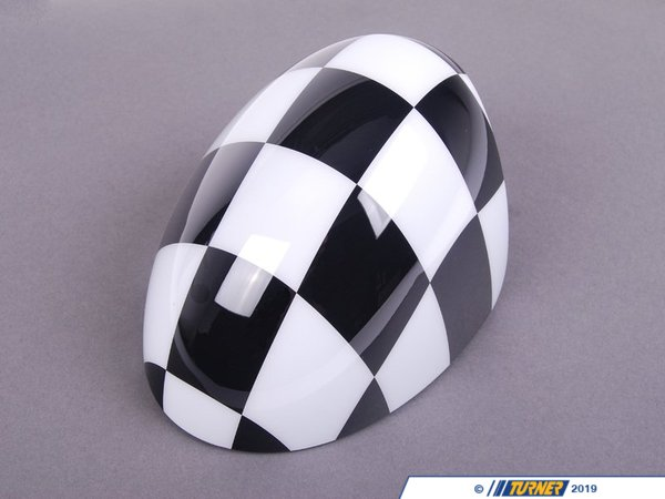 T#81433 - 51160415120 - Genuine MINI Cover, Mirror, Right Checkered - 51160415120 - Genuine MINI -