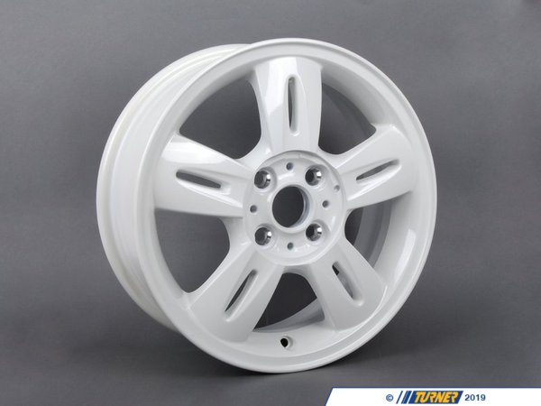 T#66311 - 36116763296 - Genuine MINI Light Alloy Rim, White 51/2Jx15 Et:45 - 36116763296 - Genuine MINI -