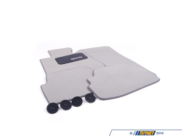 T#24908 - 82112293413 - Genuine BMW Carpet Floor Mats, Gray E82 1 Series - 82112293413 - Genuine BMW Carpet Floor Mats, Gray - E82 1 Series - Genuine BMW -