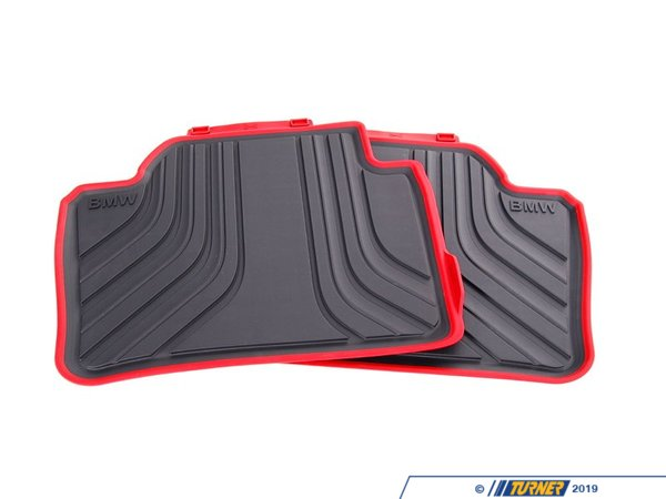 T#24085 - 51472219803 - Genuine BMW Floor Mats, All-weather, Rear - 51472219803 - Genuine BMW -