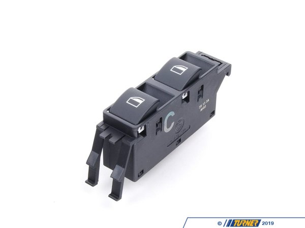 Genuine BMW Power Window Switch - E46 Coupe / Convertible - Right 61316902178