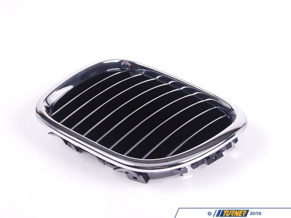T#8812 - 51138412949 - Kidney Grill with Chrome Slats - Left- Z3 1997-2002 - This Genuine BMW front left kidney grill for Z3 has the stock chrome trim with chrome slats. It is a direct snap in replacement for the stock grill. This item fits the following BMWs:1997-2002  Z3  BMW Z3 1.9 Z3 2.3 Z3 2.5i Z3 2.8 Z3 3.0i M Roadster M Coupe - Genuine BMW - BMW
