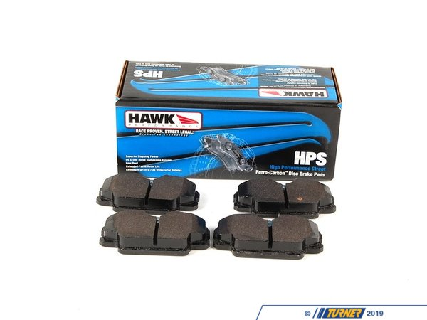 T#1027 - TMS1027 - Hawk HPS Street Brake Pads - Front - E30 318/325 - A high-performance street pad with much-improved braking performance and significantly reduced brake dust. The HPS pads are perfect for drivers who dont want an ordinary replacement pad and want something that will hold up for aggressive street. With the HPS pads you can expect:  Increased stopping power even when the pads are cold Longer pad life Low dust compared with other performance pads Quiet operation  In addition, the HPS pads are easy on rotors. And Hawk stands behind their pads with a limited lifetime warranty against defects.This pad set includes pads for both FRONT brakes.These Hawk HPS FRONT brake pads fit the following BMWs:1984-1991  E30 BMW 318i 318is 318ic 325e 325es 325i 325ic 325is 325ix  - Hawk - BMW