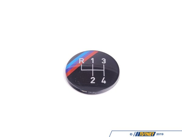 T#22715 - 25111220953 - 4-speed M Technic Gearshift Emblem (Round) - Genuine BMW - BMW