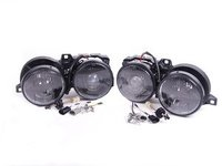 Depo Euro Smiley Smoked Crosshair Projector Headlight Set - E30
